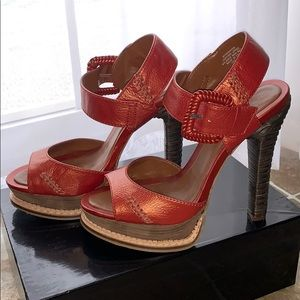Boutique 9 burnt orange platform sandals- 8.5